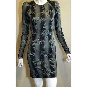 Christopher Kane Floral Print Bodycon Dress